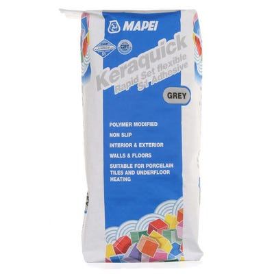 Mapei Keraquick Grey Rapid Setting Flexible S1 Adhesive 20Kg Pallet of 48