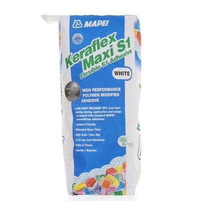 Mapei Keraflex Maxi S1 White Flexible Adhesive 20Kg Pallet of 48