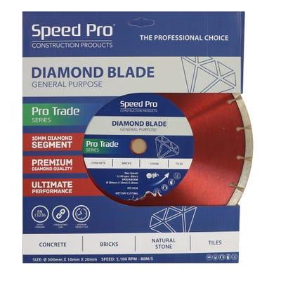 Speed Pro Trade 300mm General Purpose Diamond Blade 10mm Dia Segment