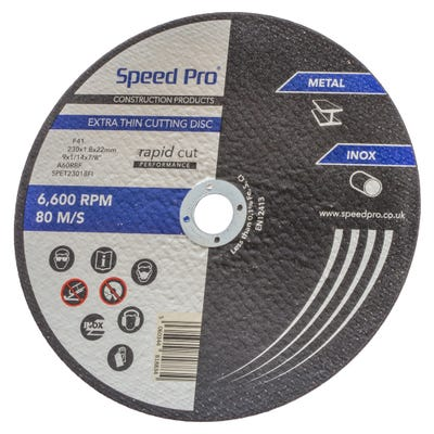 Speed Pro Extra Thin Inox/Metal Cutting Disc 230mm x 1.8mm x 22mm