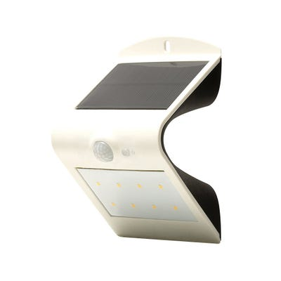 Luceco Solar Guardian PIR Wall Light IP44 White 1.5W (4000K) LEXS30W30
