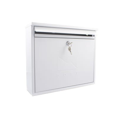 Sterling Elegance Letterbox Mailbox in White
