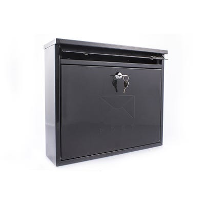 Sterling Elegance Letterbox Mailbox in Black