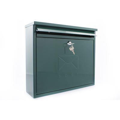 Sterling Elegance Letterbox Mailbox in Green