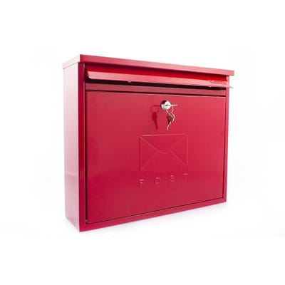 Sterling Elegance Letterbox Mailbox in Red