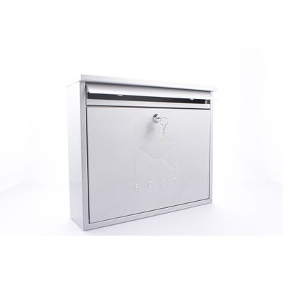 Sterling Elegance Letterbox Mailbox in Silver