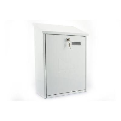 Sterling Grand Letterbox Mailbox in White