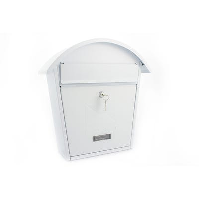 Sterling Classic 2 Letterbox Mailbox in Matt White