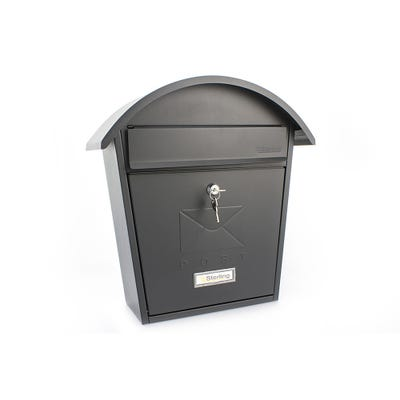 Sterling Classic 2 Letterbox Mailbox in Matt Black
