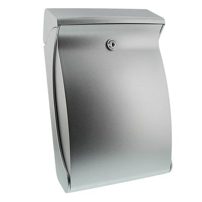 Sterling Swing Letterbox Mailbox in Silver