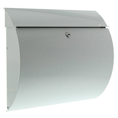 Sterling Toscana Letterbox Mailbox in White