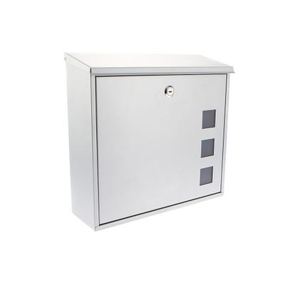 Sterling Aire Letterbox Mailbox in Silver