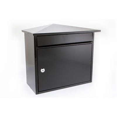 Sterling Mersey Letterbox Mailbox in Black