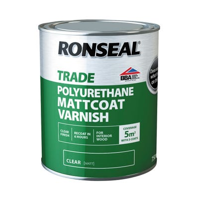 Ronseal Trade Polyurethane Mattcoat Varnish Clear