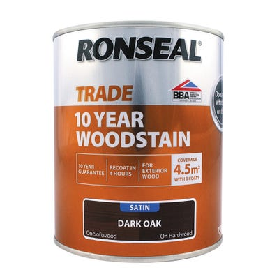 Ronseal Trade 10 Year Woodstain Dark Oak Satin