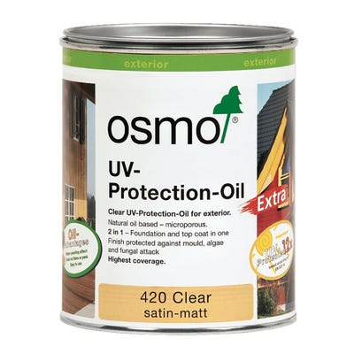 Osmo UV Protection Oil Clear Satin 750ml