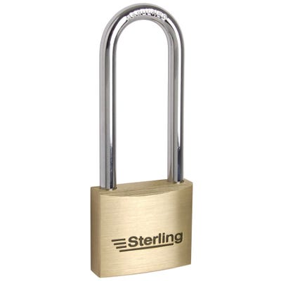 Sterling Solid Brass Long Shackle 50mm Padlock (Double Locking)