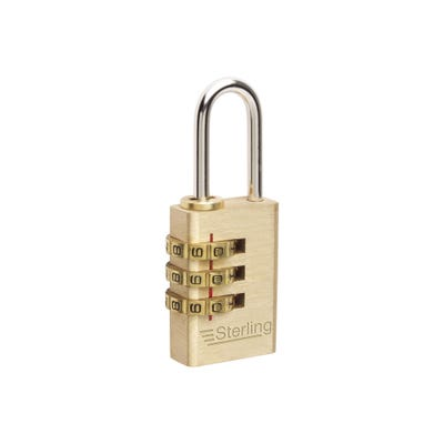 Sterling Solid Brass 30mm Combination Padlock