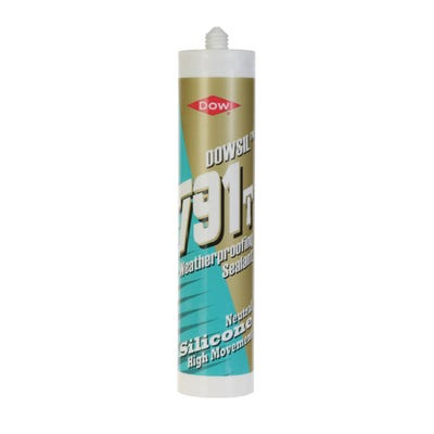 Dow 791 Weatherproofing Silicone Sealant Clear 310ml