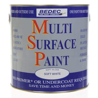 Bedec Multi Surface Paint Soft Gloss White 2.5L