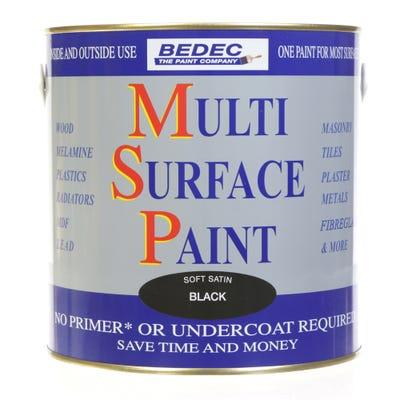 Bedec Multi Surface Paint Soft Satin Black 2.5L