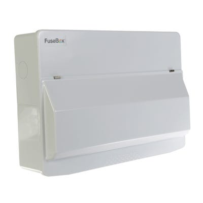 FuseBox 14 Usable Way Unpopulated Consumer Unit - 100A Mains Switch Only