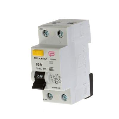 FuseBox 63A 30mA Double Pole Consumer Unit RCD