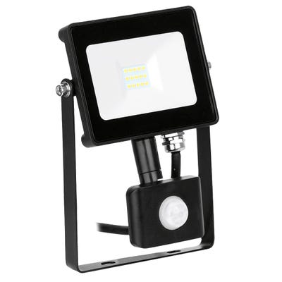 Aurora 10W LED PIR Floodlight Cool White EN-FLH10PBLK/40