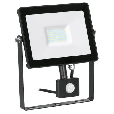 Aurora 30W LED PIR Floodlight Cool White EN-FLH30PBLK/40