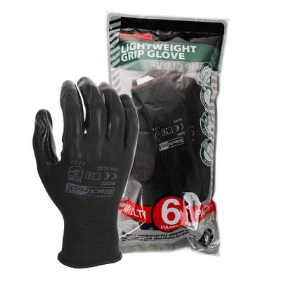 Blackrock Lightweight PU Gripper Gloves Pack of 6 Size 10/XL
