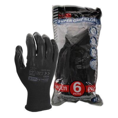 Blackrock Lightweight Nitrile Super Grip Gloves Pack of 6 Size 10/XL