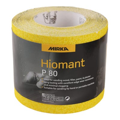 Mirka Yellow Hiomant Sandpaper P80 10m Roll