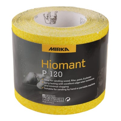 Mirka Yellow Hiomant Sandpaper P120 10m Roll