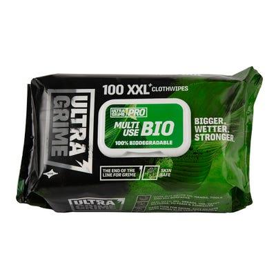 UltraGrime Biodegradble Wipes Pack of 100