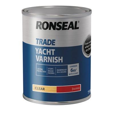 Ronseal Trade Yacht Varnish Clear Gloss 750ml
