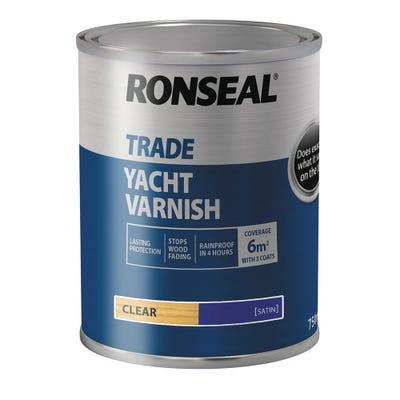 Ronseal Trade Yacht Varnish Clear Satin 750ml