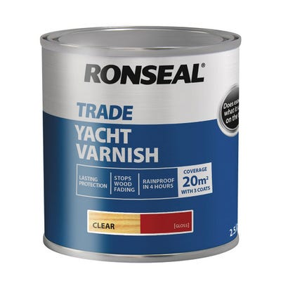 Ronseal Trade Yacht Varnish Clear Gloss 2.5L