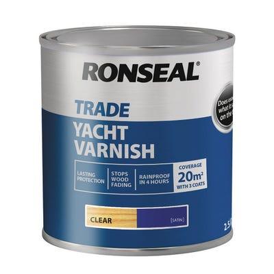 Ronseal Trade Yacht Varnish Clear Satin 2.5L