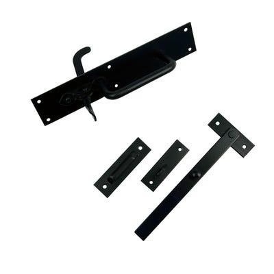Sichern Heavy Suffolk Latch 230mm Black Set