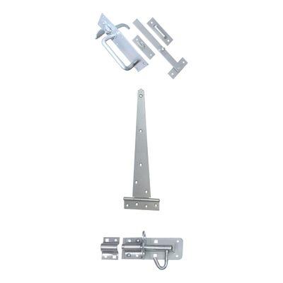 Sichern Gate Set - Suffolk Latch And Padbolt 400mm Galvorite Set