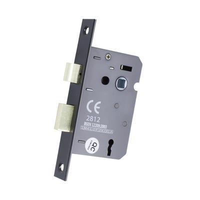 3 Lever Sash Lock Fd Certifire 63mm Matt Black