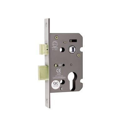 Euro Profile Fd Certifire Commercial Sash Lock 63mm Satin Nickel