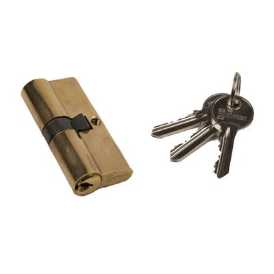 Euro Cylinder Double 35 / 35 Brass