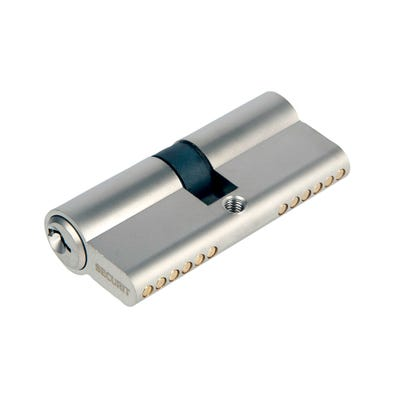 Euro Cylinder Double 35/35 Satin Chrome