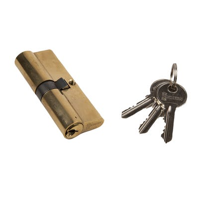 Euro Cylinder Double 40/40 Brass