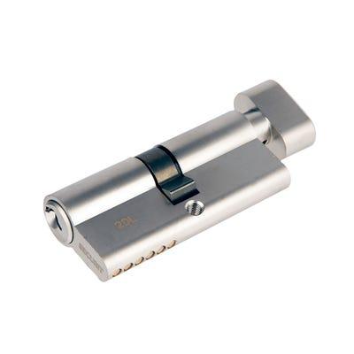 Euro Cylinder Turn 35/35 Satin Chrome