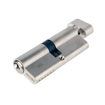 Euro Cylinder Turn 40/40 Satin Chrome