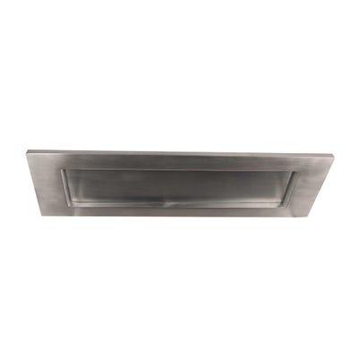 Letter Plate 250 x 76mm Satin Chrome