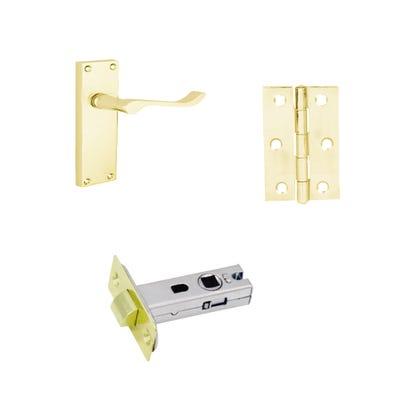 Scroll Internal Latch Pack Brass
