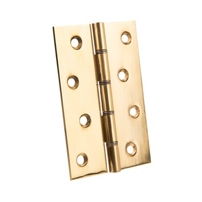 Steel Washer Butt Hinges 100 X 67 Polished Pack